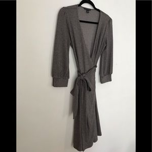 Banana Republic Wrap Dress Stretch Herringbone | S